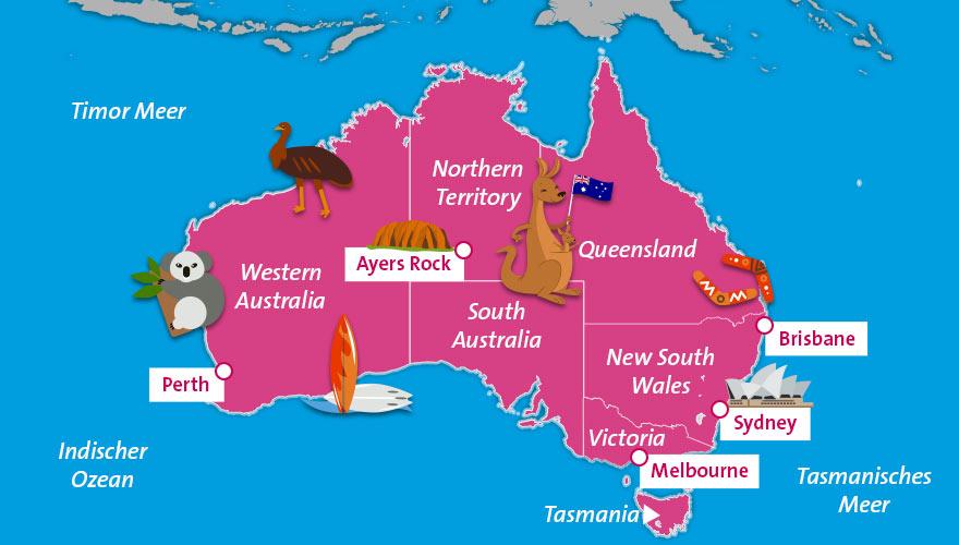 Karte-Australien