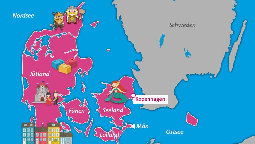 Karte-Daenemark