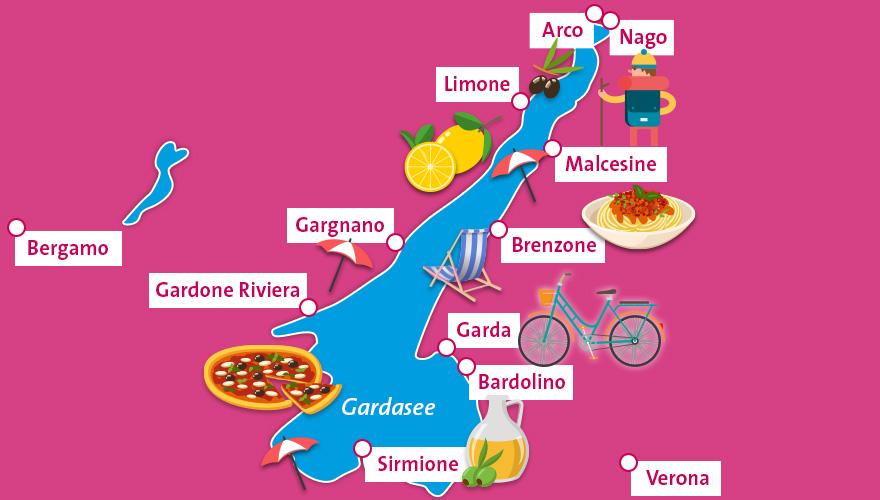 Karte-Gardasee
