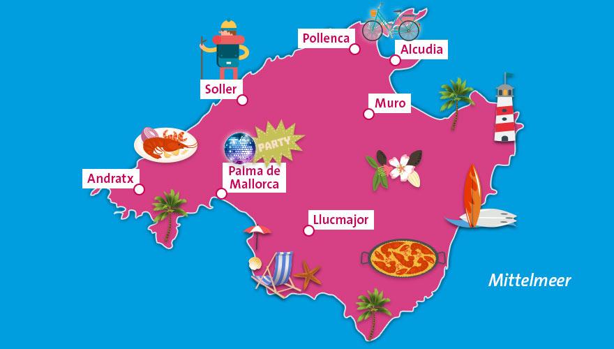 Mallorca Karte Strände.Unser Reiseguide Für Mallorca Infos Und Tipps