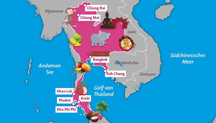 Karte-Thailand