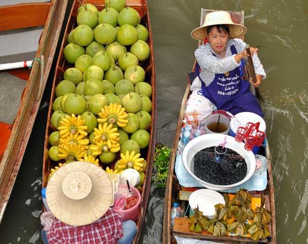 Reiseziel Thailand, Bangkok, Schwimmende Märkte