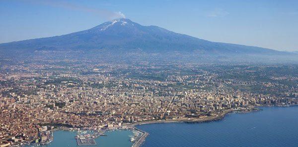 Catania in Sizilien in Italien