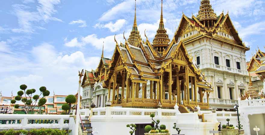 Königspalast Wat Phra Kaeo in Bangkok in Thailand