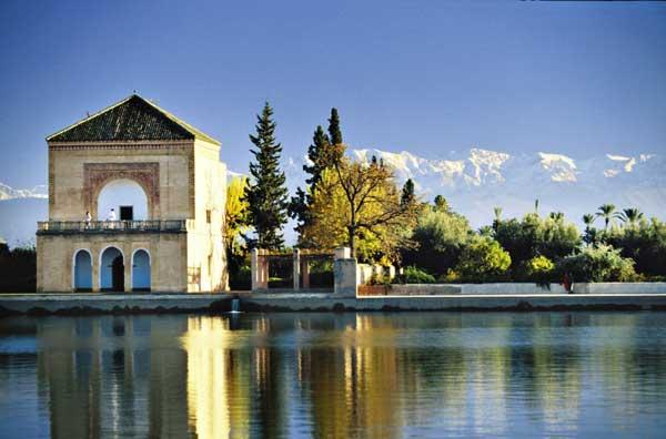 Die Menara Gärten von Marrakesch