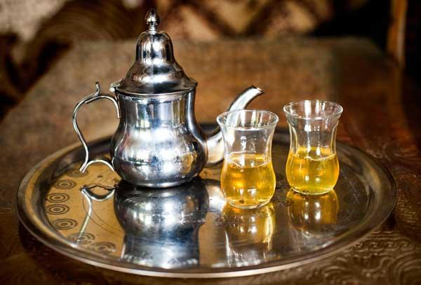 Teezeremonie in Marokko