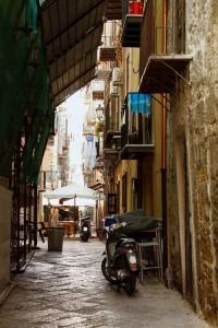 Gasse von Palermo, Sizilien