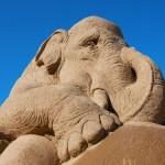 Sandskulpturenfestival an der Türkischen Riviera