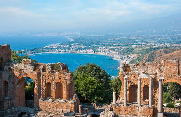 Taormina in Sizilien in Italien