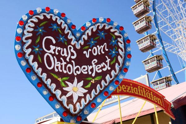 Oktoberfest in Muenchen in Deutschland