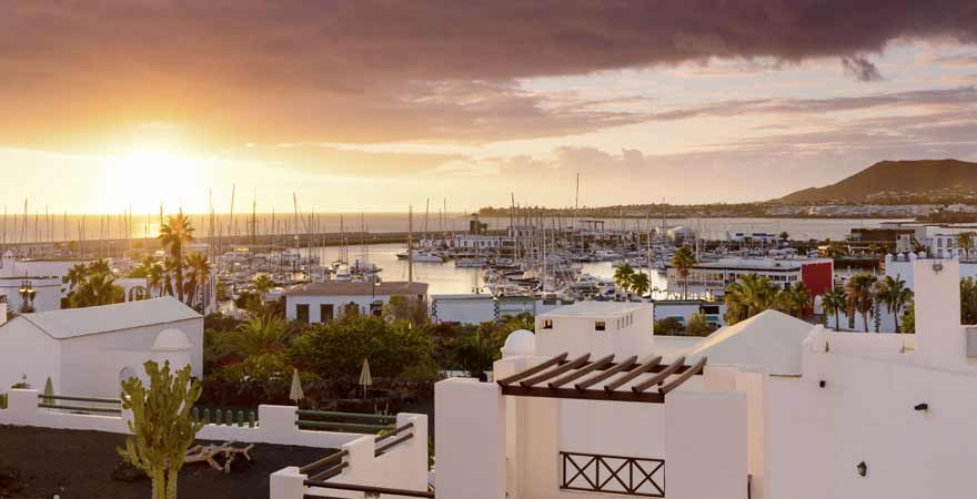 Playa Blanca auf Lanzarote auf den Kanaren in Spanien
