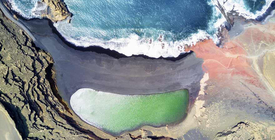 Playa el Golfo auf Lanzarote auf den Kanaren in Spanien