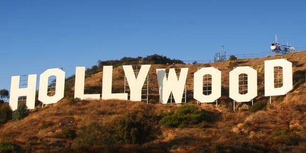 Symbol der Filmindustrie in den Hollywood Hills