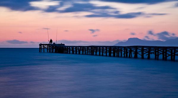 Alcudia auf Mallorca bei Sonnenuntergang