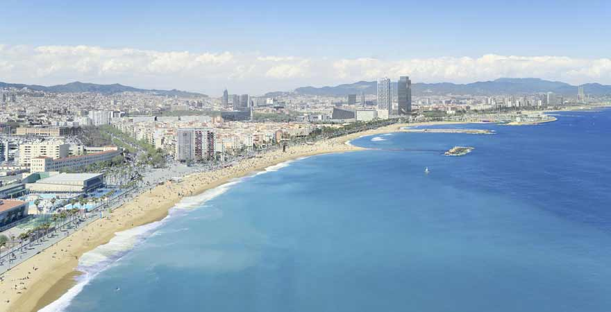 Strand in Barcelona in Spanien
