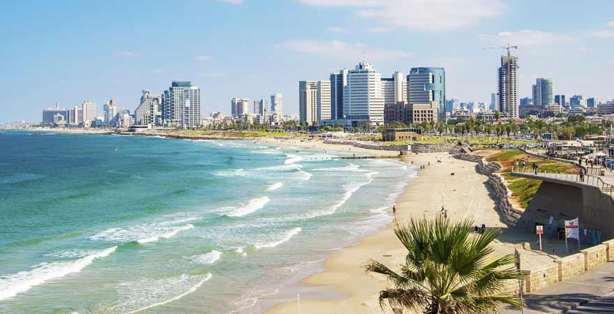 Strand in Tel Aviv in Israel