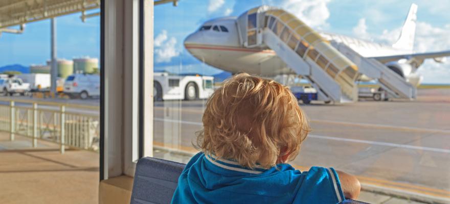 Fliegen mit Kind