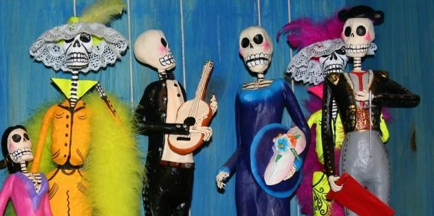 """Farbenfrohe Dekoration zum """"Dia de los Muertos"""" in Mexiko"""