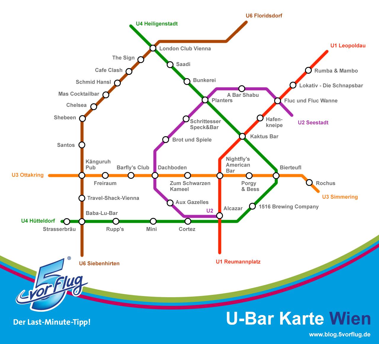 Die besten Bars in Wien im U-Bahnnetz