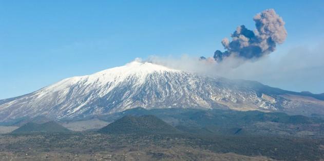 Der Vulkan Aetna auf Sizilien