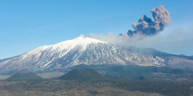 Der Vulkan Ätna auf Sizilien