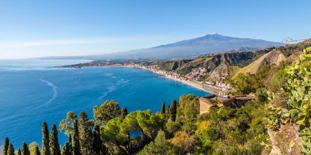Baderegion auf Sizilien in Italien