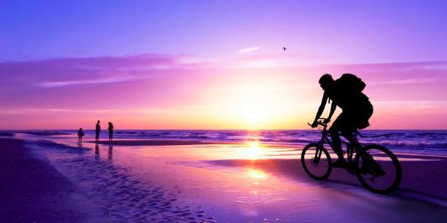 Fahrrad fahren im Urlaub