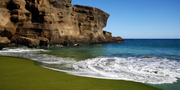 Papakolea Beach auf Big Island - Hawaii