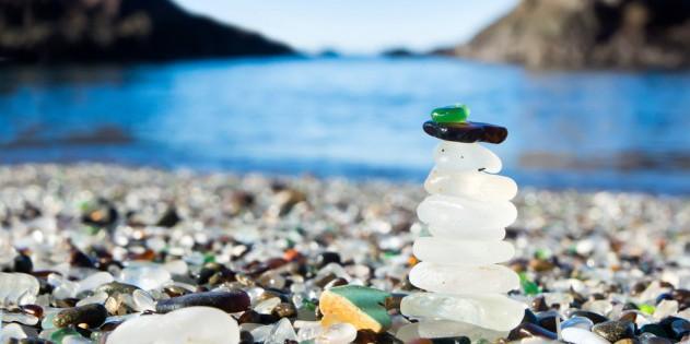 Glass Beach in Kalifornien in den USA