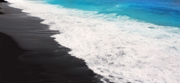 Schwarzer Vulkansand auf La Palma