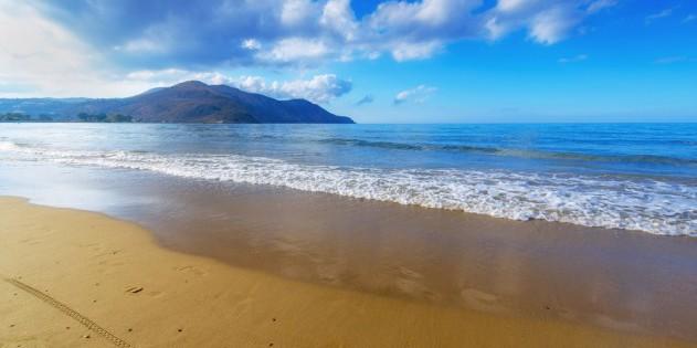 Hot Water beach in Neuseeland