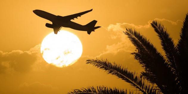 Flugzeug-gucken am Strand von St. Maarten