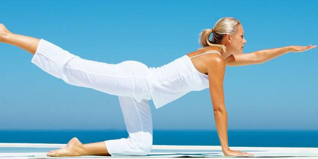 Yoga Haltung gestreckter Arm