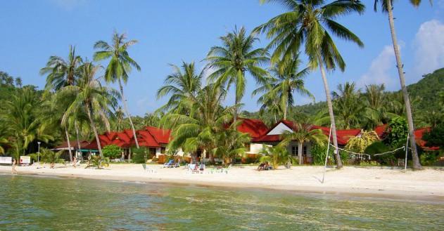 Palmen & weißer Sand auf Koh Phangan