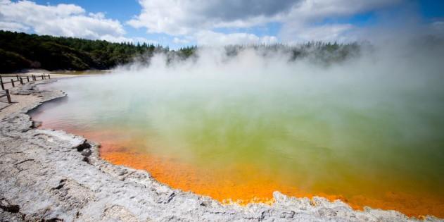 Heiße Quellen in Neuseeland