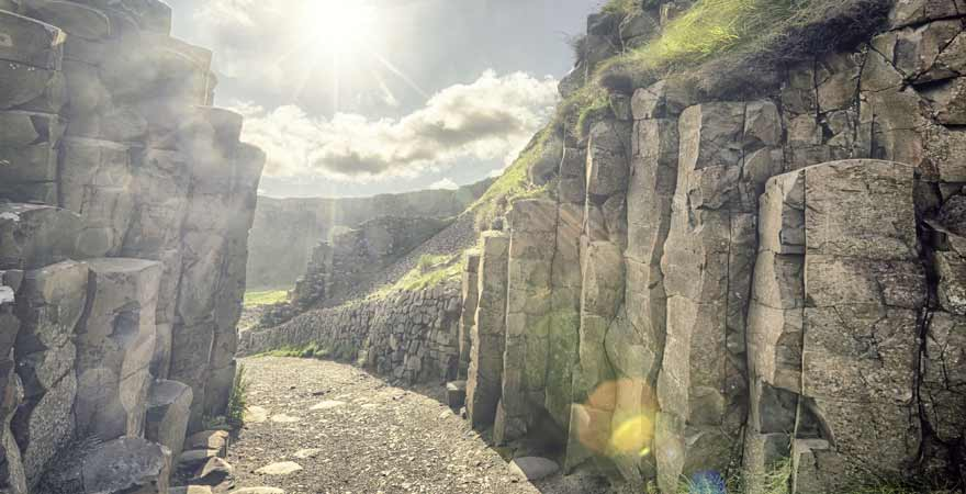 Giants Causeway in Irland