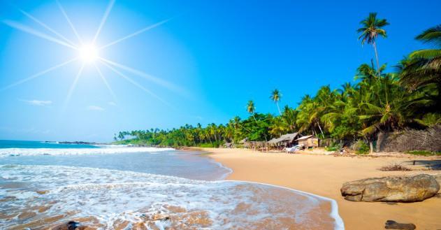 Sri Lanka: palmengesäumte Strände