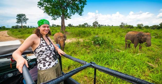 Elefanten-Safari in Sri Lanka