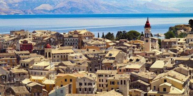 Korfu Stadt auf Korfu in Griechenland