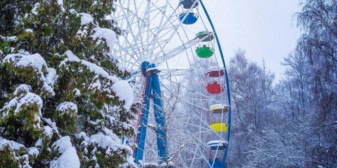Ein winterlicher Besuch im Freizeitpark