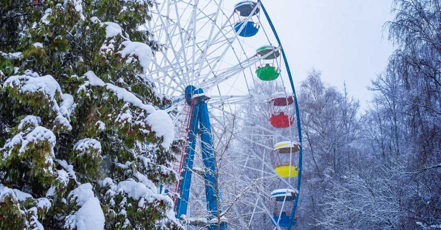 Riesenrad im Winter