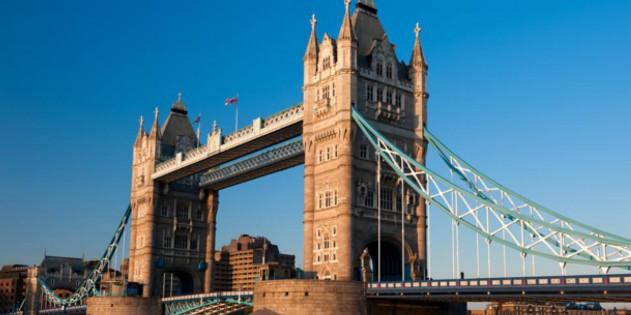 Tower Bridge in London in England