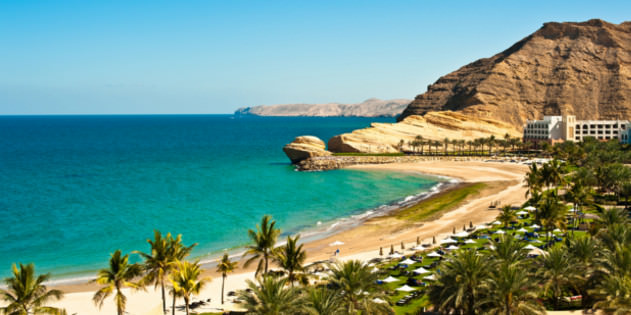 Strand im Oman