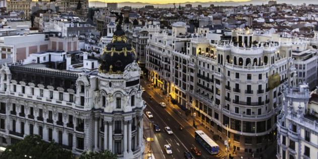 Blick auf Madrid