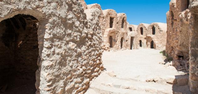 Steinhäuser in Tunesien