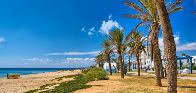 Strand von Hammamet in Tunesien