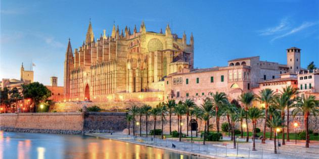 Die Kathedrale La Seu auf Mallorca in Spanien