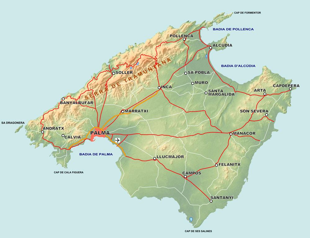 Karte Mallorca