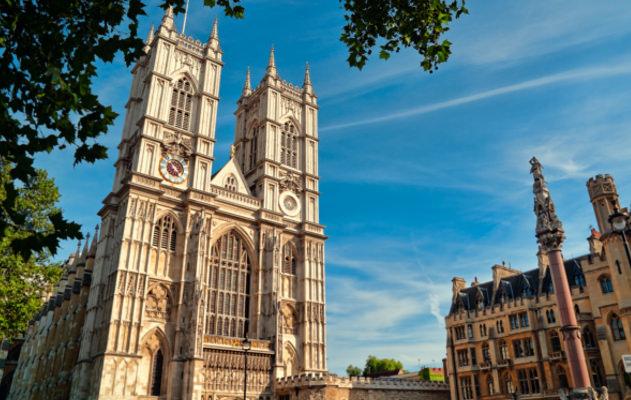 Westminster Abbey in London in England