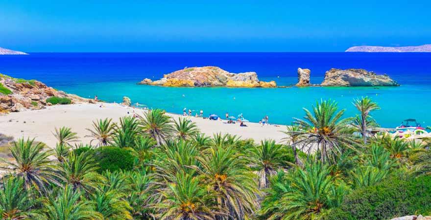 Vai Beach auf Kreta in Griechenland